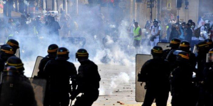 Sarı Yeleklilerin gösterileri sürüyor: 122 kişi gözaltına alındı!