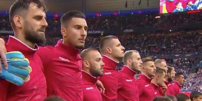 Fransa-Arnavutluk maçı öncesi milli marş krizi!