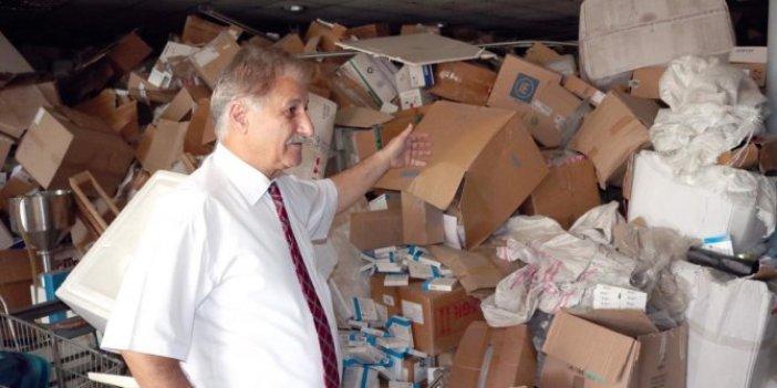 90 kamyon ilaç depoda unutuldu, zarar 200 milyon TL