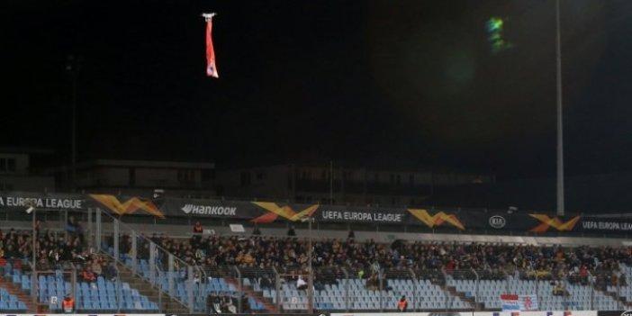 Karabağ maçında Ermenistan bayrağı skandalı