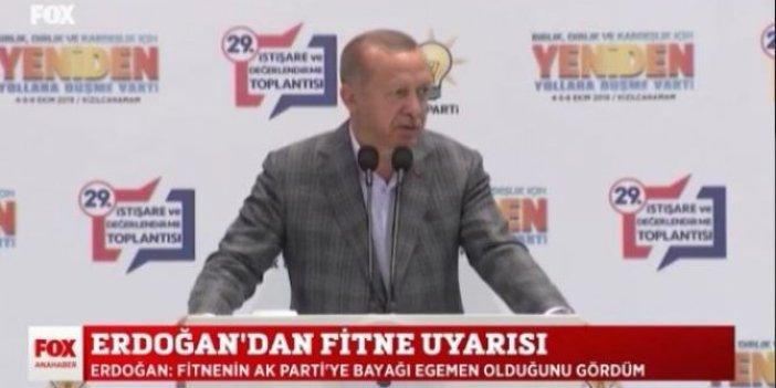 Erdoğan'ın 'Fitne' açıklamalarını böyle yorumladılar