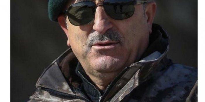 Çavuşoğlu'nun özel harekat üniformalı fotoğrafına tepki