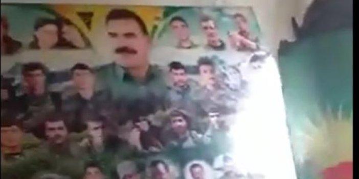 Sözde karargahta teröristbaşı Öcalan resmi!