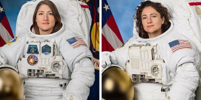 Tarihte ilk kez iki kadın astronot uzay yürüyüşü gerçekleştirdi