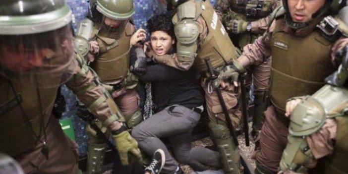 Şili'de metroya zam yapıldı halk sokağa döküldü!