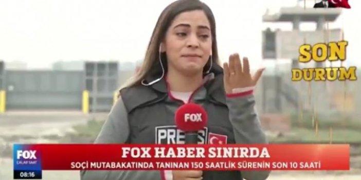 Fox TV muhabiri Öznur Aslan gözyaşlarını tutamadı