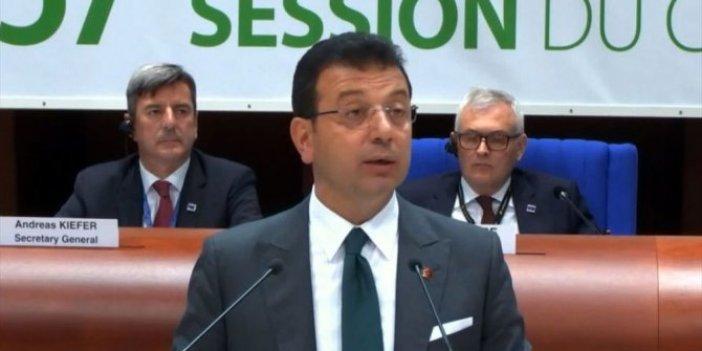 İmamoğlu Avrupa Konseyi'nde Barış Pınarı'nı savundu