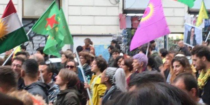 İtalya'da PKK/YPG gösterisi!