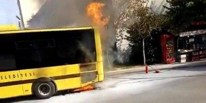 Otobüste yangın paniği! Şoförün dikkati faciayı önledi