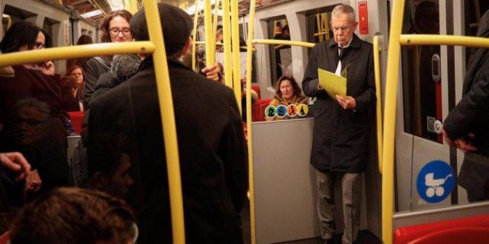 Avusturya Cumhurbaşkanı metroda böyle görüntülendi
