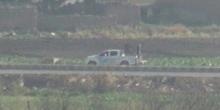 YPG'li teröristlerin Kamışlı'daki konvoyu görüntülendi