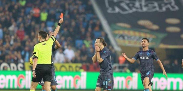 Trabzonspor, 46 maç sonra ilk kez kırımızı kart gördü