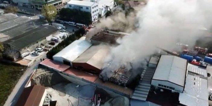 Tuzla'da fabrika yangını! Okullar boşaltıldı