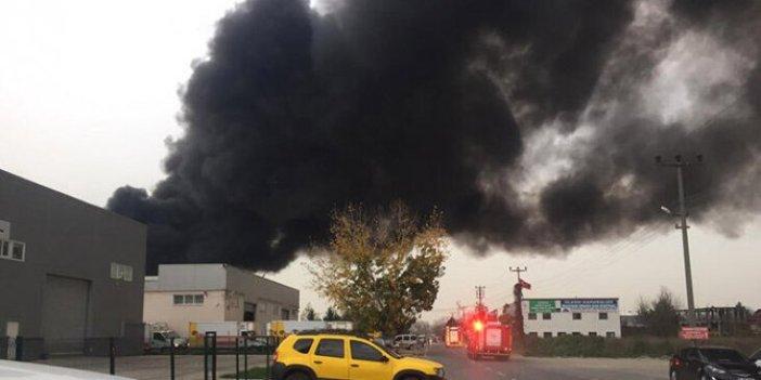 Sakarya'da fabrika yangını!