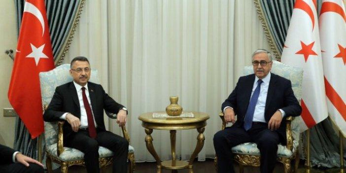 Fuat Oktay'dan Mustafa Akıncı'ya ziyaret