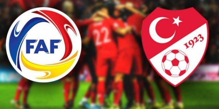 Andorra ve Türkiye'nin 11'leri belli oldu