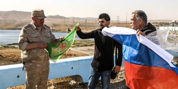 Rusya ile terör örgütü YPG arasında devir teslim töreni!