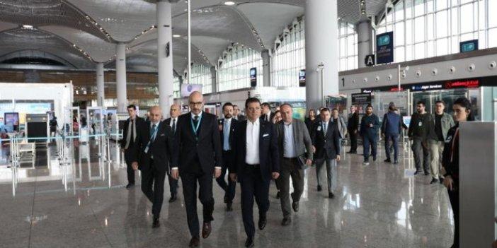 Ekrem İmamoğlu, İstanbul Havalimanı yöneticileriyle buluştu