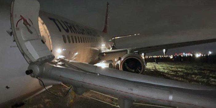 THY uçağı pistten çıktı! Yolcular tahliye edildi