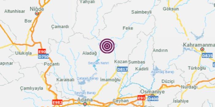 Son dakika: Adana'da korkutan deprem
