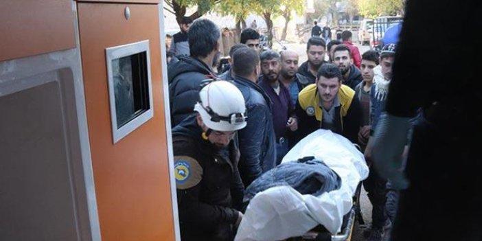 PKK'lı teröristler Azez'deki sivillere saldırdı