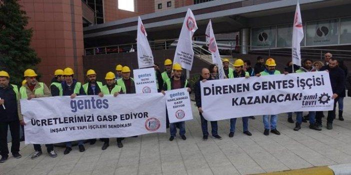 Maaşlarını alamayan işçiler 9 gündür eylem yapıyor