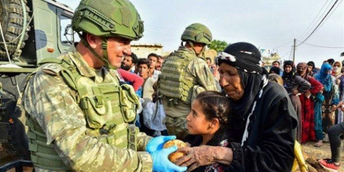 TSK Rasulayn'da gıda yardımı yaptı