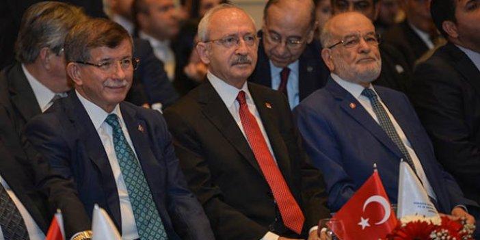 Kılıçdaroğlu, Karamollaoğlu ve Davutoğlu bir araya geldi