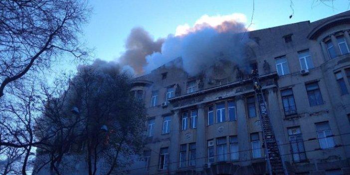 Üniversite binasında yangın: 10 yaralı