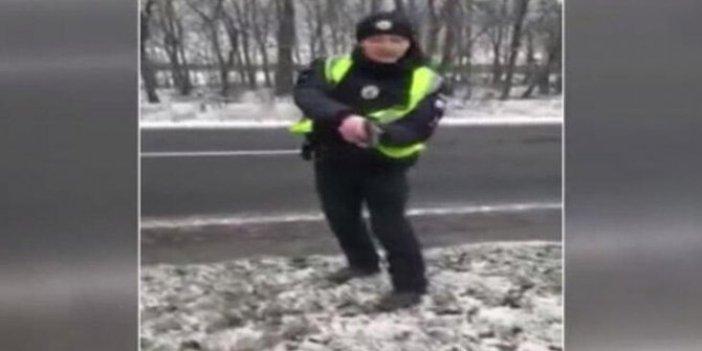 Ukrayna polisi Türk şoföre silah çekti