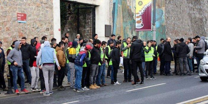 Metro işçileri eylem yaptı