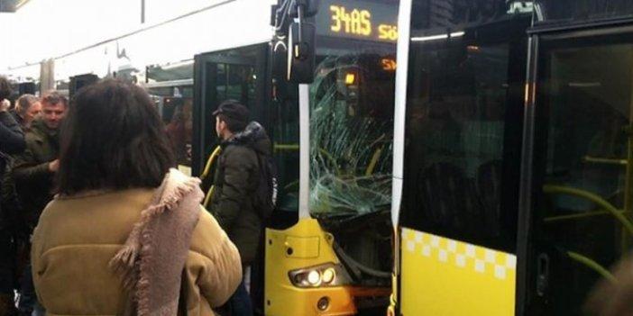 Fikirtepe'de metrobüs kazası!