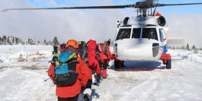 Kaybolan dağcıları arama çalışmaları devam ediyor