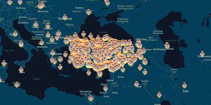 BM'nin internet sitesinde dikkat çeken Türkiye haritası