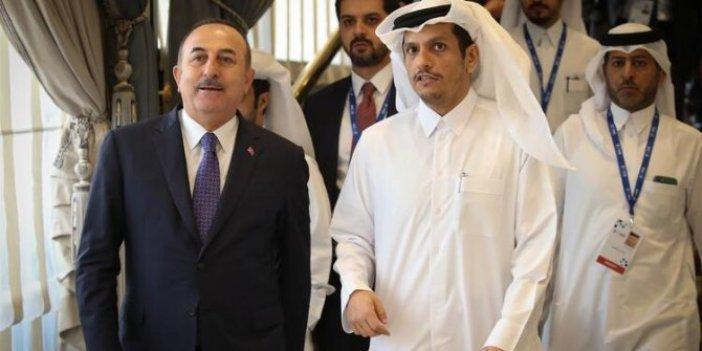 Bakan Çavuşoğlu Katarlı mevkidaşıyla görüştü