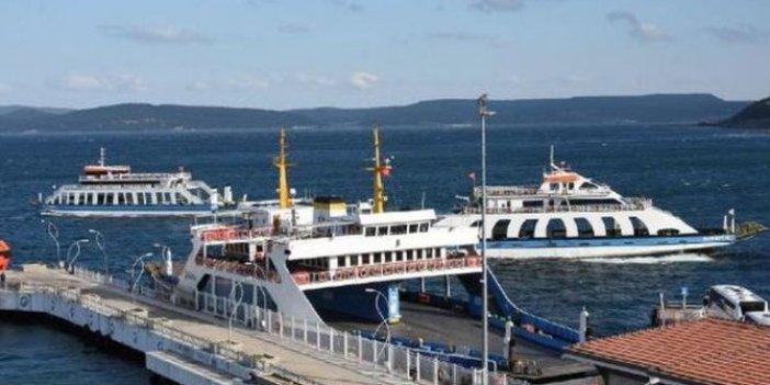 Gökçeada ile Bozcaada feribot seferleri iptal edildi