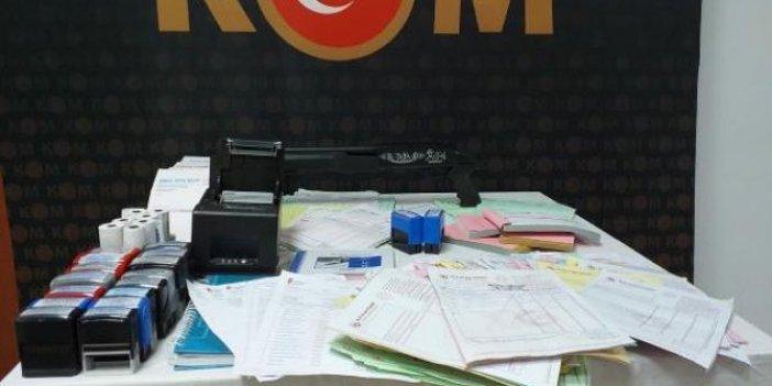 Naylon fatura operasyonunda 4 kişiye gözaltı