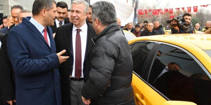 Taksicilerden Mansur Yavaş'a destek