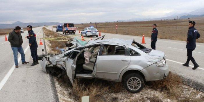 Burdur'da otomobil devrildi: 1 ölü, 4 yaralı