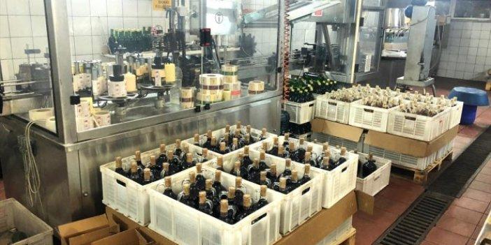 Bir fabrikada 355 ton kaçak içki ele geçirildi