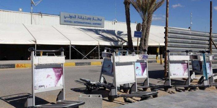 Trablus'ta havalimanına roket saldırısı!