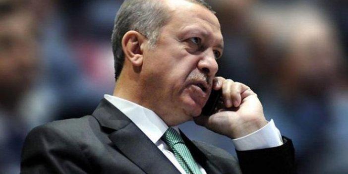 Erdoğan'dan kritik telefon görüşmesi!