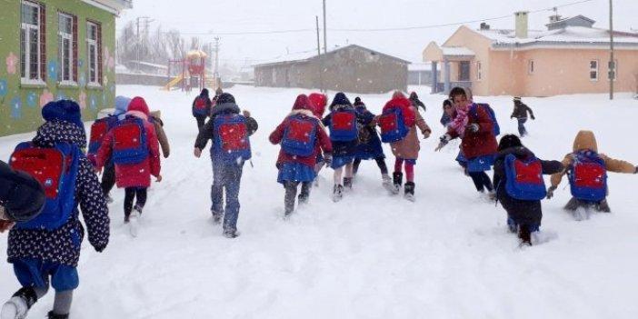 Kar yağışı nedeniyle birçok il ve ilçede okullar tatil edildi