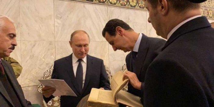 Esad ile görüşen Putin, Emevi Camii'ni ziyaret etti