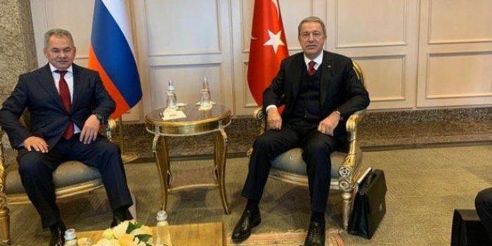 Hulisi Akar, Rus mevkidaşıyla görüştü
