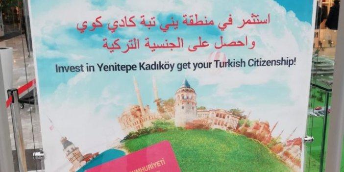 AVM'de Arapça vatandaşlık afişi!