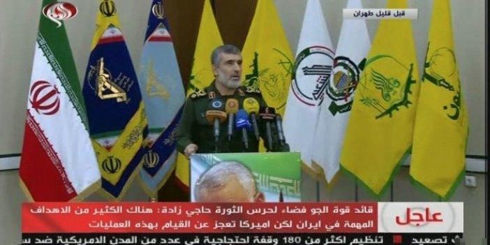 """İranlı komutan: """"ABD askeri hedefimizde değil"""""""
