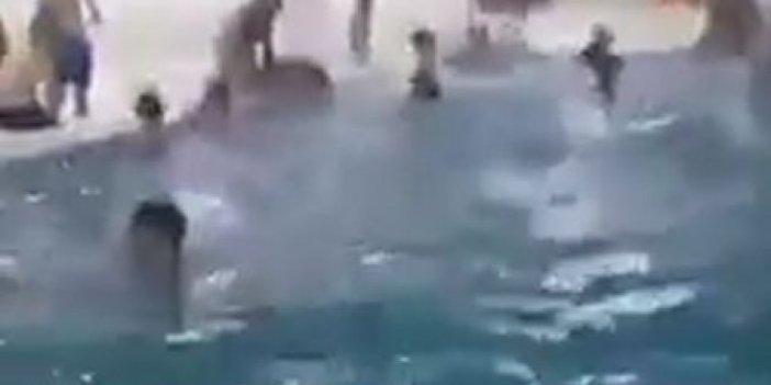 Suriyeliler Gaziantep'teki kapalı havuzları işgal etti