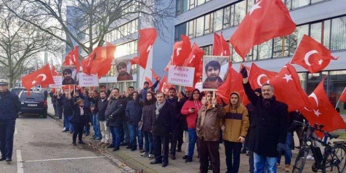 Alman polisinin öldürdüğü Türk vatandaşı için protesto