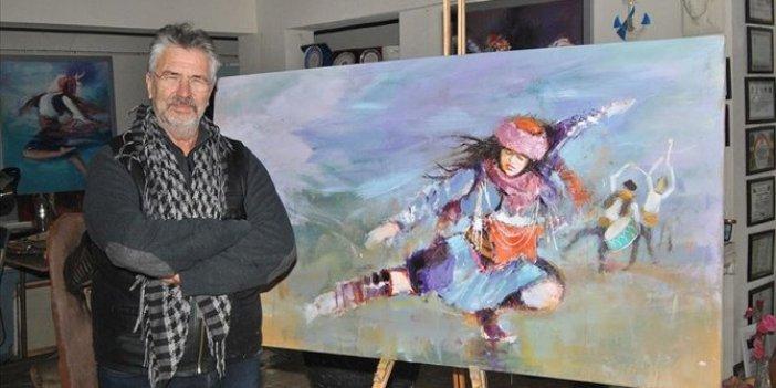 Efe kültürünü tablolarıyla dünyaya böyle tanıtıyor
